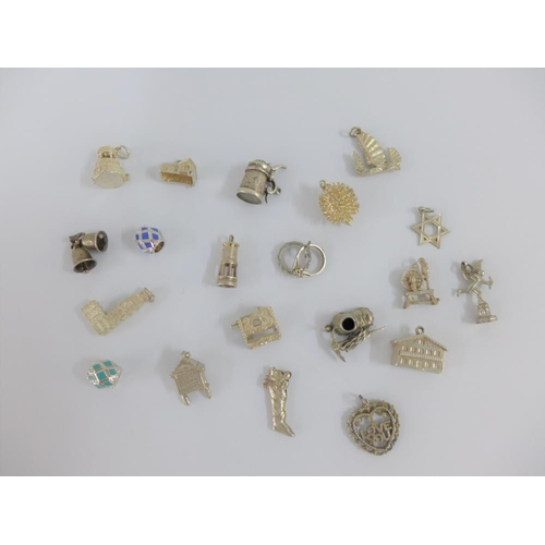 5 - Twenty various silver charms (20)...