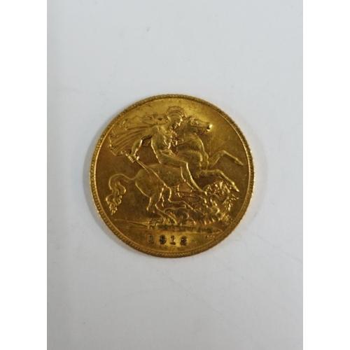 16 - George V gold half sovereign, 1912...