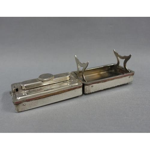 24 - Edwardian silver cased spirit heater for curling tongs, London 1902, 9.5cm...