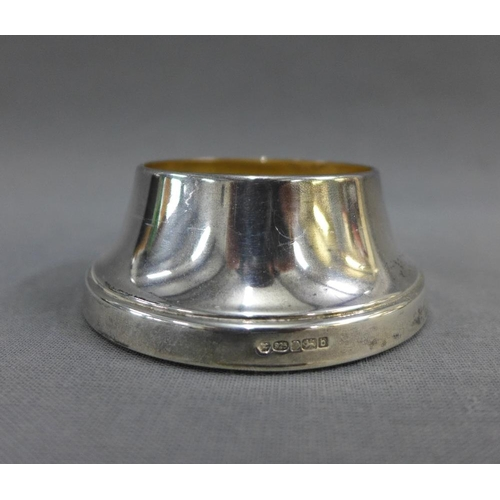42 - Carr's glass vase on a silver circular base, Sheffield 2001, 19cm high...
