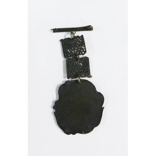57 - Jacobite Rebellion commemorative brooch, 9cm...