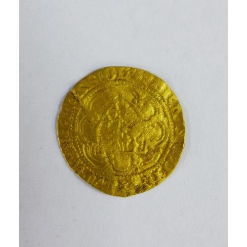 58 - Edward III quarter noble gold coin...