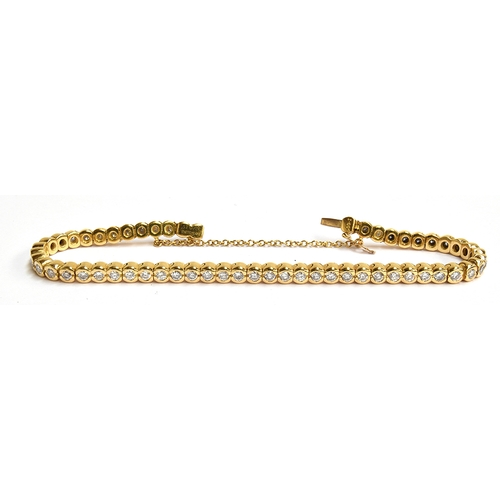 18 - A 18ct gold Boodles diamond bracelet, approx 3ct of diamonds, approx 24.5g and 20cmL...