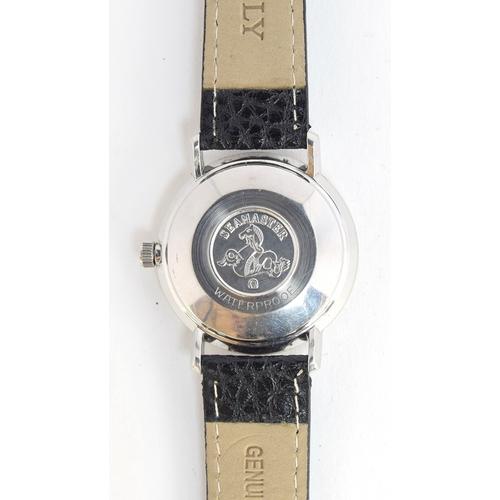40 - A GENTLEMAN'S STAINLESS STEEL OMEGA SEAMASTER DE VILLE WRIST WATCH CIRCA 1960s, SILVERED DIAL, APPLI...