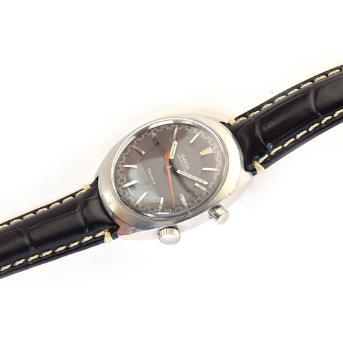51 - A GENTLEMAN'S STAINLESS STEEL OMEGA GENEVE CHRONOSTOP CHRONOGRAPH WRIST WATCH DATED 1967, REF 145.00...