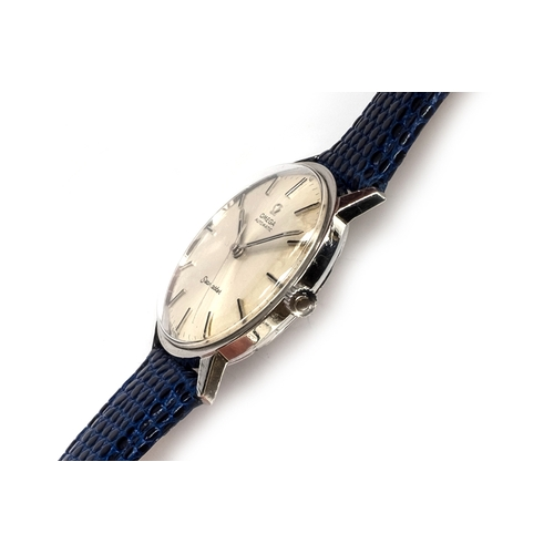 57 - A GENTLEMAN'S STAINLESS STEEL OMEGA SEAMASTER WRIST WATCH  Dated 1963, REF 165.001, sunburst silvere...