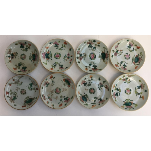 33 - A set of eight 19th century Oriental saucers...