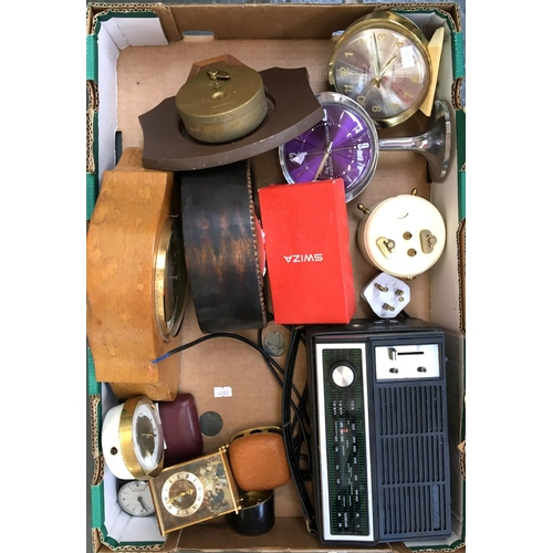 17 - A mixed lot of mantle clocks, to inclue Swiza, West Clocks, Bentima etc...