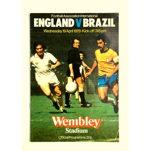 28 - Football Association International programme, England v Brazil, 19th April 1978...