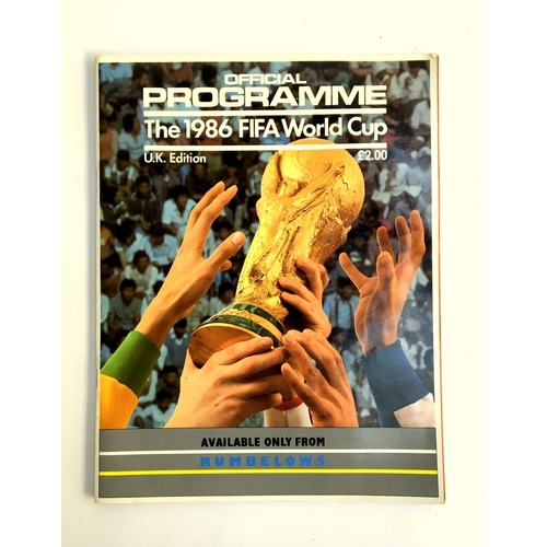 29 - Football interest: Official Programme, The 1986 FIFA World Cup, U.K Edition...