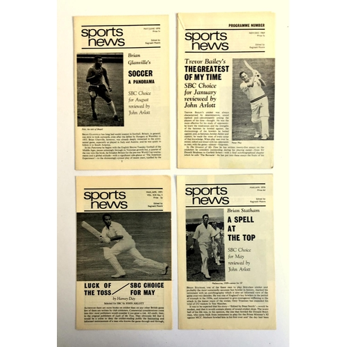 30 - Four issues of the Sports News edited by Reginald Moore, Nov/Dec 1969, Mar/Apr 1970, May/June 1970, ...