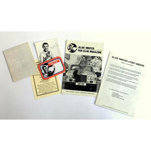 36 - Boxing interest, Alan Minter fan club items c.1981, magazine vol.1 no.1, vol.1 no. 2, vol. 1 no. 3, ...