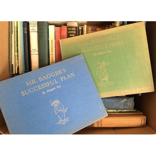 50A - A mixed box of books on the countryside, to include British birds vols 1-4, Nests and Eggs (Sandars)...