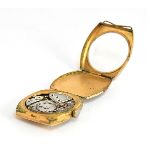 542 - A GOLD PLATED MANUALLY WOUND ROLCO GENTLEMAN'S WRIST WATCH (AF) Engraved 'Presented to Sir Knt David...