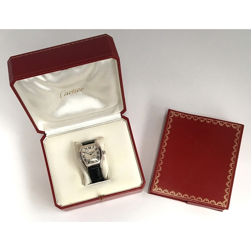 560 - A RARE GENTLEMAN'S 18CT GOLD CARTIER COLLECTION PRIVEE TORTUE WRIST WATCH Circa 2005, ref. no W15459...