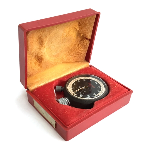 537 - AN OMEGA STOPWATCH Circa 1970s, boxed, diameter 48mm, screw back...