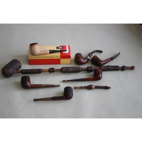 13 - A QUANTITY OF ESTATE PIPES to include a boxed