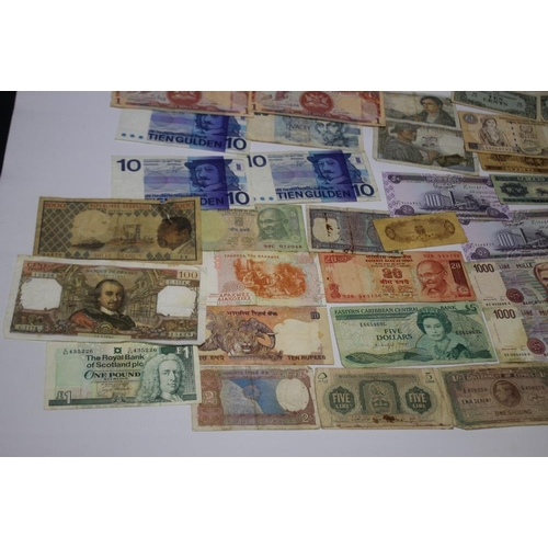 24 - A COLLECTION OF WORLD BANK NOTES to include examples from Cyprus, France, Turkey, USA etc.