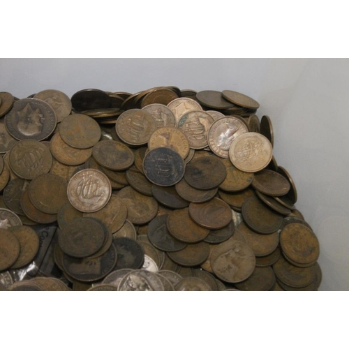 25 - A LARGE QUANTITY OF COINS, MAINLY BRITISH PRE-DECIMAL ISSUES