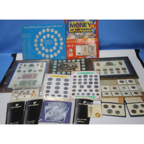 28 - A COLLECTION OF COINS AND TOKENS, to include UNC issues, Thailand sets etc.