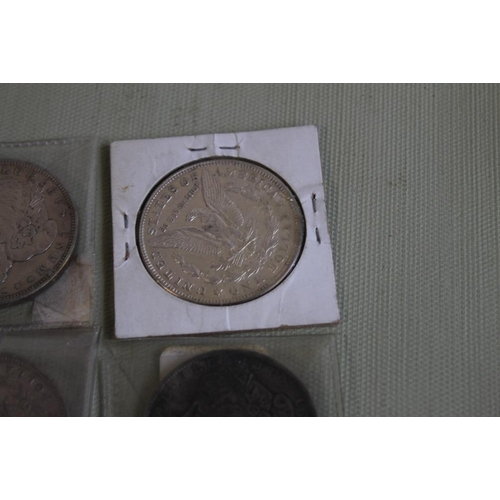 30 - US SILVER DOLLARS 1891-0, 1896 X2 1900-0 AND 1931-D 1921