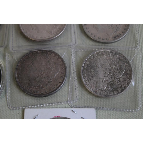 31 - US SILVER DOLLARS 1882, `1883, 1886, 1887, 1888, 1899, AND 1900