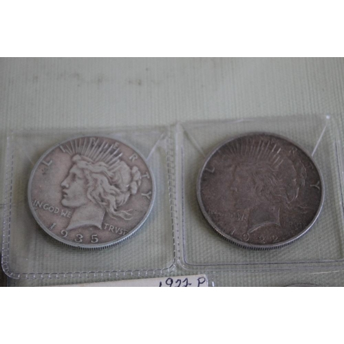 33 - US SILVER DOLLARS 1922 X 4 AND A 1935