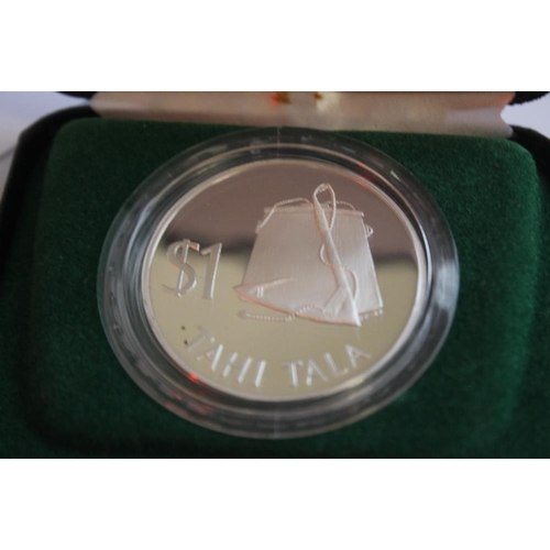 49 - CASED SILVER PROOF CROWNS, to include 1979 Tokelau, New Zealand 1977 Waitangi Day issue etc
