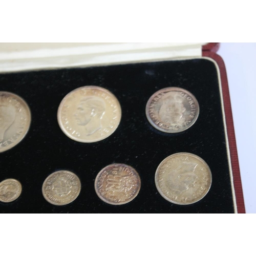 52 - A 1937 SPECIMEN SET ¼d - crown including Maundy in case of issue