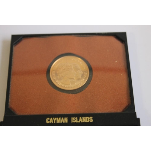 54 - CAYMAN ISLANDS 1972 GOLD $25 (500 fine)
