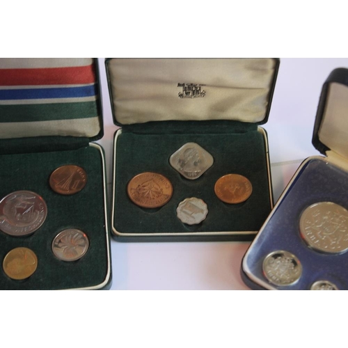 56 - BARBADOS 1974 PROOF SET, British Virgin Islands 1974 proof set, Isle of Man 1971 proof set, Guernsey...