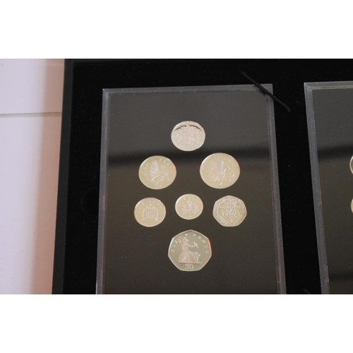 58 - ROYAL MINT 2008 SILVER PROOF SETS - Emblems of Britain and Royal Shield of Arms in case with certifi...