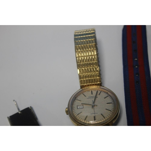 7 - A COLLECTION OF VINTAGE GENT'S WATCHES to include a Roamer Searock etc.