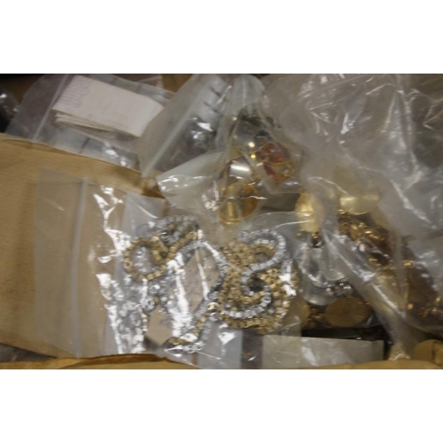 16 - FOUR TRAYS OF ASSORTED COSTUME JEWELLERY MAKING ACCESSORIES