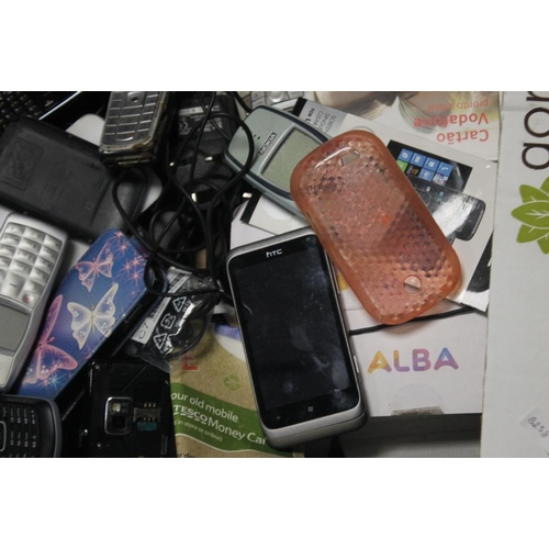 37 - A QUANTITY OF MOBILE PHONES, chargers etc. to include a Nokia 3330 A/F