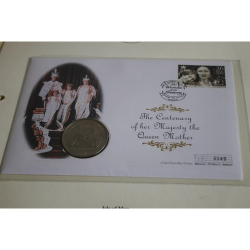 44 - QUEEN MOTHER INTEREST - TWO SILVER PROOF COOK ISLANDS COLOURIZED DOLLARS, 2000, AND 2002, together w...