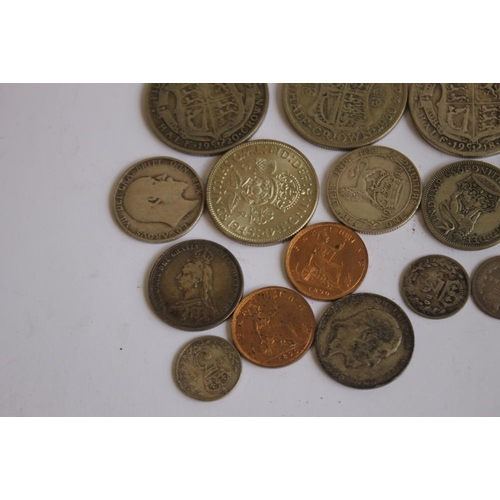 54 - A COLLECTION OF 19TH/20TH CENTURY BRITISH COINS, to include 1893 crown, 3 1890 farthings and a selec...