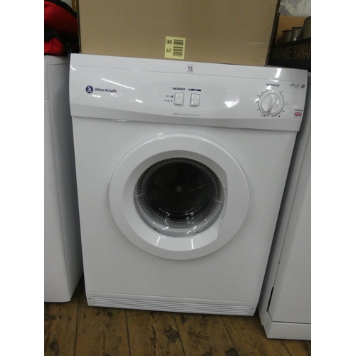 13 - A White Knight reverse tumble 6kg workload tumble dryer...