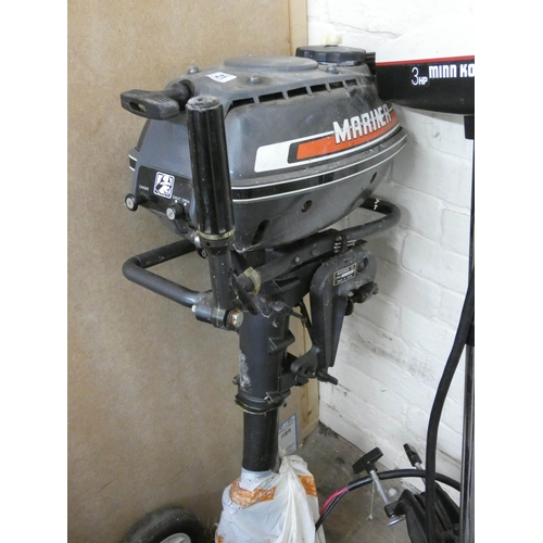 21 - A Mariner 3.5 horse power outboard motor...