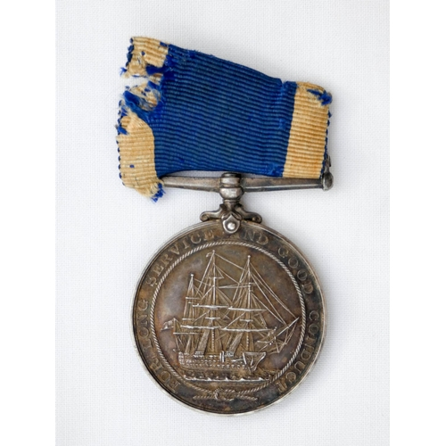 509 - Royal Navy Long Service and Good Conduct Medal Edward VII, awarded to Edward Harris Ships Corporal 1...