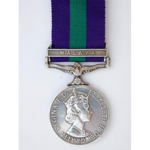 519 - The General Service Medal Elizabeth II with bar Malaya, awarded to 22936073 Private N D M Smith of t...