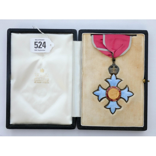 524 - The Most Excellent Order of the British Empire Commanders CBE neck badge in silver gilt and enamel, ...