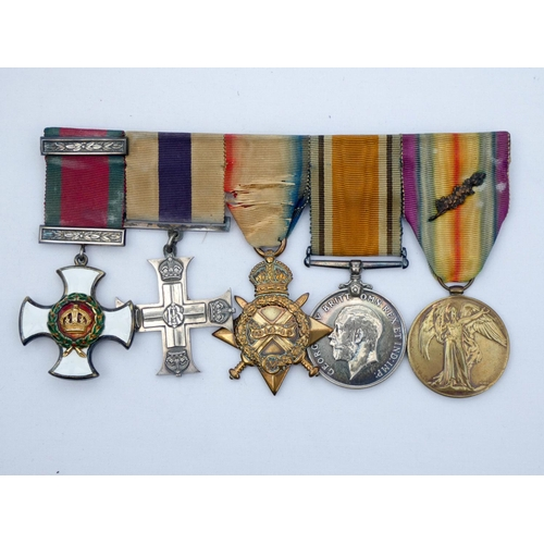 546 - A group of five First World War medals to Captain, later Lieutenant Colonel, P G M Elvery of the Roy...