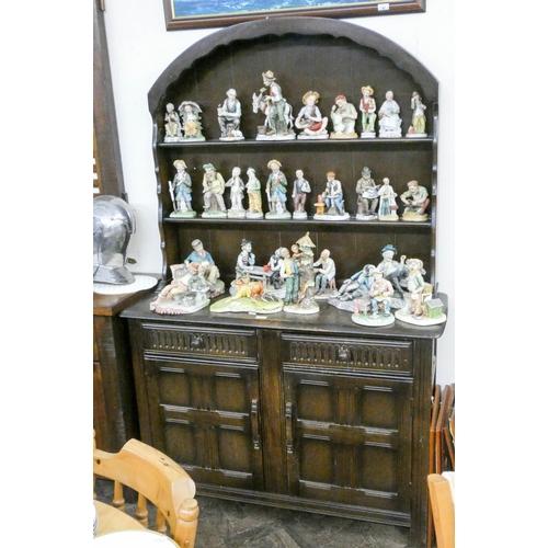 44 - A reproduction oak Dutch style dresser 4' wide...