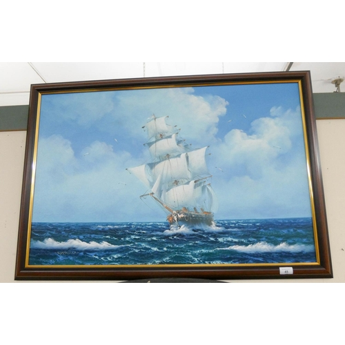 45 - Large modern picture of a sailing galleon 24