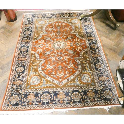425 - Figured wool pile Persian rug 74