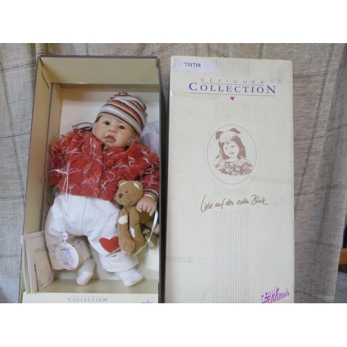 3 - 'Zapf Creation' Designer Collection of Porcelain Doll, 'Amy' 50cm/20inch, with Oryginal Box & Certif...