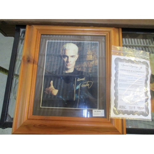 41 - Signed picture of actor James Masters from Buffy the Vampire Slayer...
