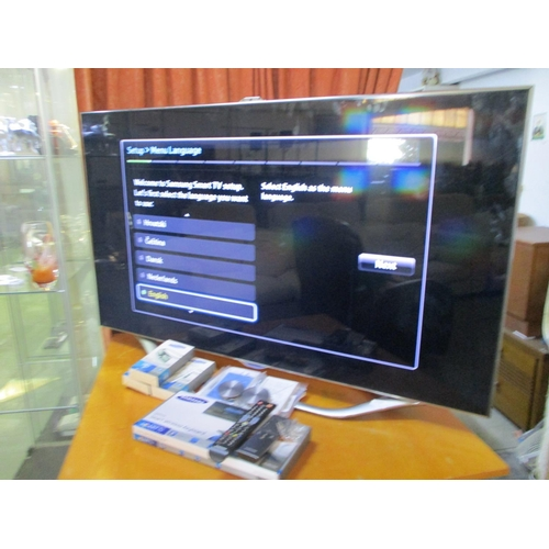 26 - Hi Spec 55 Inch (140cm) Samsung Smart TV with Samsung Wall Mount Kit and Wireless Keyboard, 3D Glass...