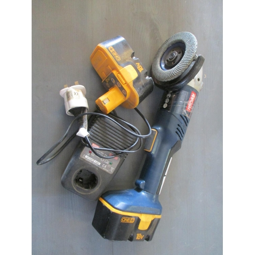 12 - Robi 18V Angle Grinder CAG180  with Charger and , Extra Battery...